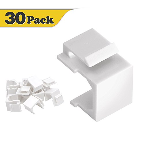 (VCE 30-Pack Blank Keystone Jack Inserts for Wallplate)