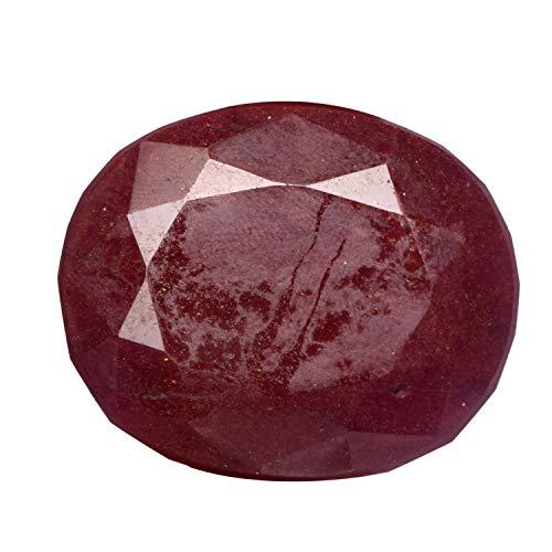 (A Grade Red Ruby Stone 198.50 Ct Faceted Genuine Precious Gemstone Pigeon Blood Ruby, Oval Cut Ruby Gem)