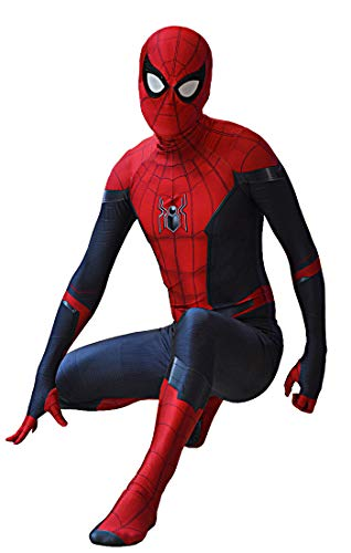 Far from Home 2019 Spiderman Costume Far from Home Spider-Man Suit for Kids and Adults Cosplay Best Halloween Costume (Kids-S)