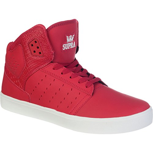 Supra ATOM  Unisex-Erwachsene Hohe Sneakers Cardinal - off white