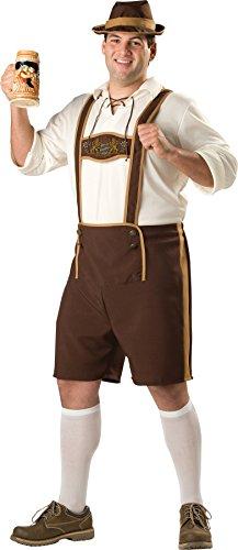 Bavarian Guy Plus Costumes (GTH Men's Bavarian German Beer Guy Fest Lederhosen Holiday Costume, XX-Large (50-52))
