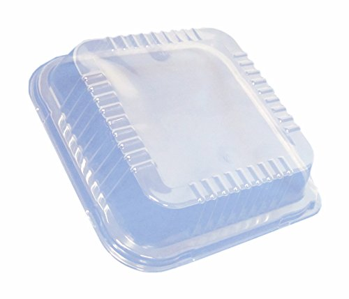 Durable Packaging Plastic Dome Lid for Square Cake Can, 9'' (Pack of 500) by Durable Packaging (Image #2)