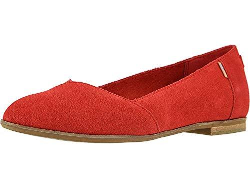 TOMS Women's Julie Flats, Size: 9 B(M) US, Color: Poinsettia Suede (Shoes Red Womens Toms)