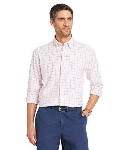 IZOD Mens Newport Oxford Fishbon Print Long Sleeve Shirt