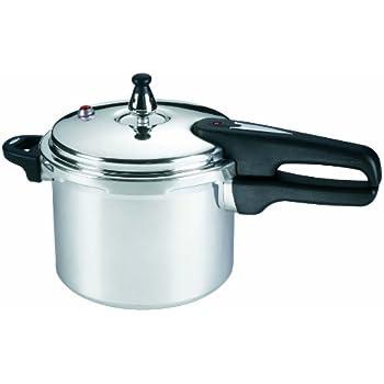 Mirro 92140A Polished Aluminum 10-PSI Pressure Cooker Cookware, 4-Quart, Silver
