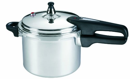 Mirro 92140A Polished Aluminum 10-PSI Pressure Cooker Cookware, 4-Quart, Silver (Polished Aluminum Cookware)