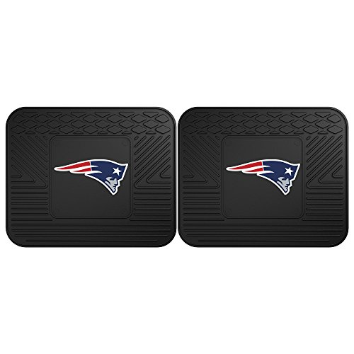 FANMATS 12304 NFL - New England Patriots Utility Mat - 2 Piece Carpet Floor Mats Rear Wheel