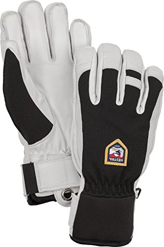 Hestra Ski Gloves: Army Leather Patrol Winter Cold Weather Gloves, Black, 11