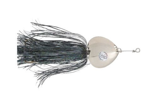 Double Cowgirl - Musky Double Showgirl Bait, 7 1/2-Inch, 1.6-Ounce, Black/Nickel