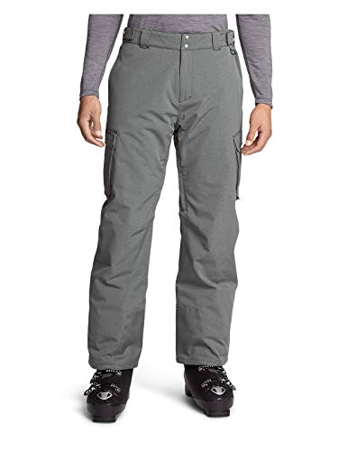 Eddie Bauer Men's Powder Search 2.0 Insulated Pants, Cinder HTR Regular XL