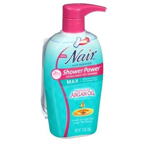 Nair Shower Power Max with Moroccan Argan Oil, Cream for Legs & Body - 2PC