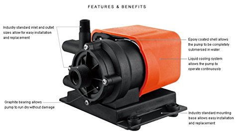 SEAFLO Marine Air Conditioning / Seawater Circulation AC Pump 250GPH Submersible - 115V by Seaflo