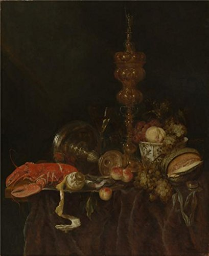 Perfect Effect Canvas ,the Vivid Art Decorative Canvas Prints Of Oil Painting 'Abraham Van Beyeren,Still Life With Lobster And Fruit,1650s', 12x15 Inch / 30x37 Cm Is Best For Bar Gallery Art And Home Artwork And Gifts