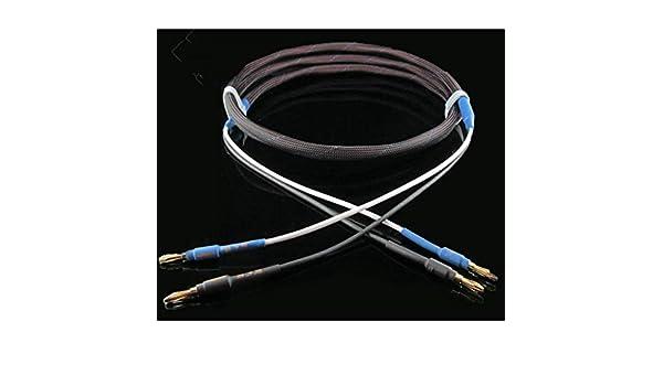 Cable De Altavoz De Fiebre 6N Sin Oxígeno Cobre Plateado Plateado De Alta Fidelidad Banana Cable De Altavoz HiFi Cable De Audio Principal Y Clavija: ...