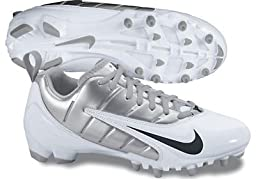 Nike Womens Speedlax III Lacrosse Cleats - White / Metallic Silver / Black - White/Silver 7