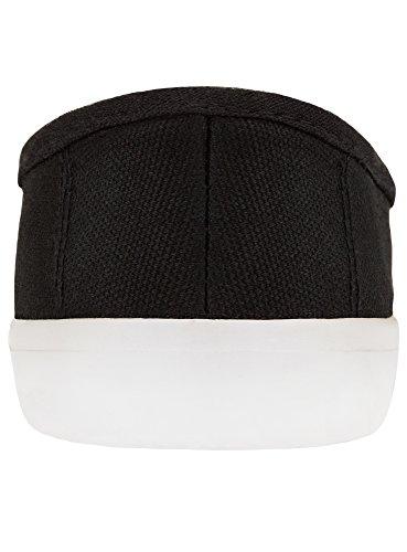 oodji Coton 2900n Baskets Ultra Noir Basiques Femme en UqfUO