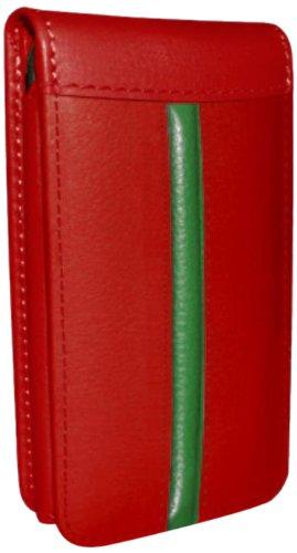 Piel Frama Ledertasche Classic Magnetic RACE Edition Rot/Grün für Apple iPhone 5C