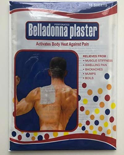 - Mehta Belladonna Perforated Herbal Plaster - 10 Sheets Size 11.2 X 16.5 cm