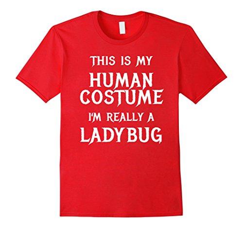 Costume Ideas Ladybug (Mens I'm Really a Ladybug Halloween Costume Shirt Easy Funny 2XL)