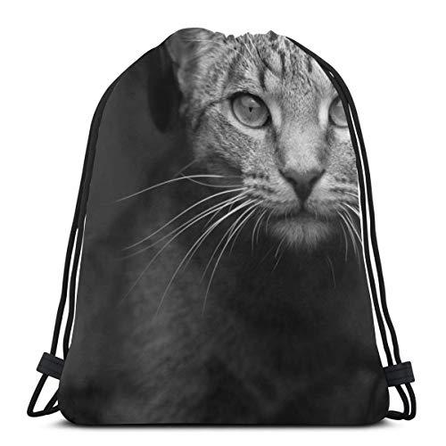 Caribbean Green Parrot Bird Beak Custom Drawstring Shoulder Bags Gym Bag Travel Backpack Lightweight Gym for Man Women 16.9