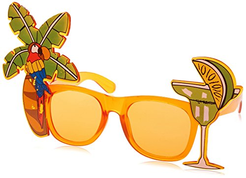 Beistle 60376 Palm Tree and Parrot - Crazy Sunglasses