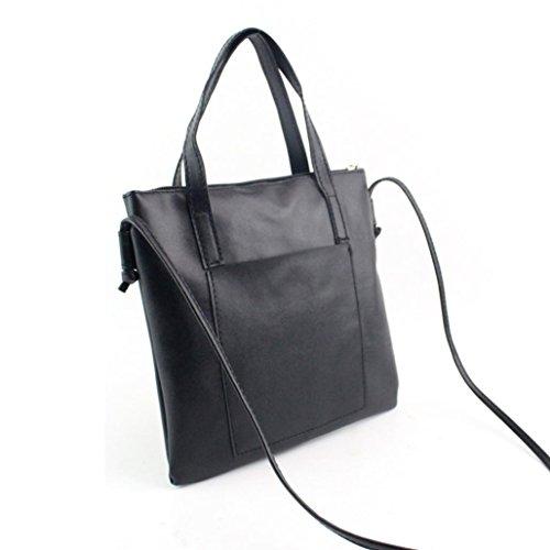 2017 ZARU Frauen Leder Tasche Handtasche Shopper Messenger Crossbody Hobo Schultertasche Schwarz