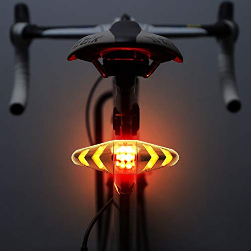 Bike Turn Signals - Maso Rechargeable Bike Tail Light LED Bike Rear Turn Signal Lights with Wireless Remote Control Multifunctional Modes Waterproof Cycling Warning Light for Mountain Bike, Road Bicycle