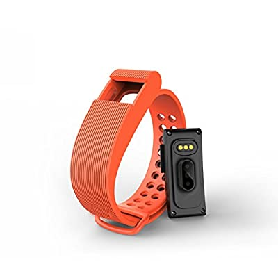 Cage Sents Heart Rate Monitor Fitness Activity Tracker Watch Step Walking Sleep Wireless Wristband Pedometer Exercise Sweat proof Sports Bracelet Bluetooth (orange)