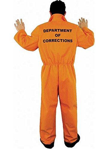 Prison Department of Corrections Adult Unisex Costume (Large 42-44 -
