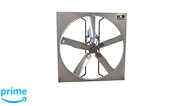 Schaefer Ventilation 525P1 Polymer Panel Fan, 5 Wing, 1 hp, 52