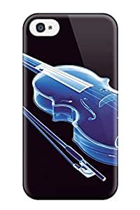 New Design Shatterproof EEJTPFY9658lJTBr Case For Iphone 4/4s (violin Music People Music)