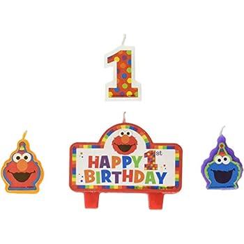 Amscan 171835 Sesame Street Birthday Candles One Size Multi