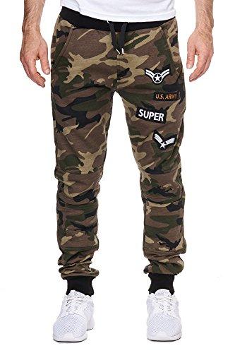 Army Hommes survêtement Ladies Camouflage Army Fitness Cabine Pantalons Sportshorts de Sweatpants XwSdBq