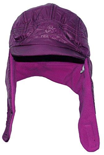 Purple Reversible Knit Beanie - TOFERN Unisex Winter Fleece Reversible Beanie Hat Earflap Trapper Cap for Outdoor Cycling Climbing Hiking, Purple Head Circumference 54-60cm