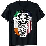 Unisex T Shirts - St Patrick's Day Cross