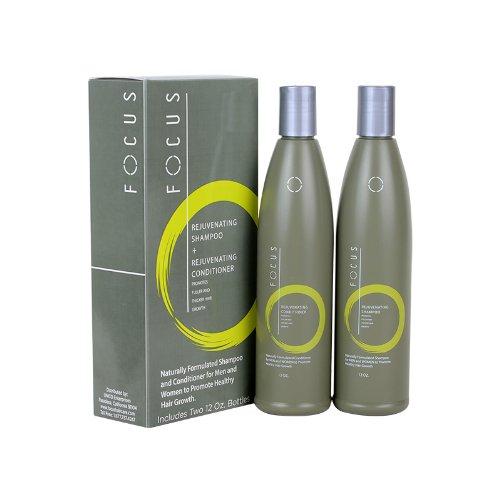 Agrémentée d'huile d'Argan et chanvre graines huile Focus croissance shampoing et revitalisant aide à promouvoir les cheveux poussent plus vite et plus longtemps Combo Pack 12 Oz chacune pour la croissance plus rapide des cheveux