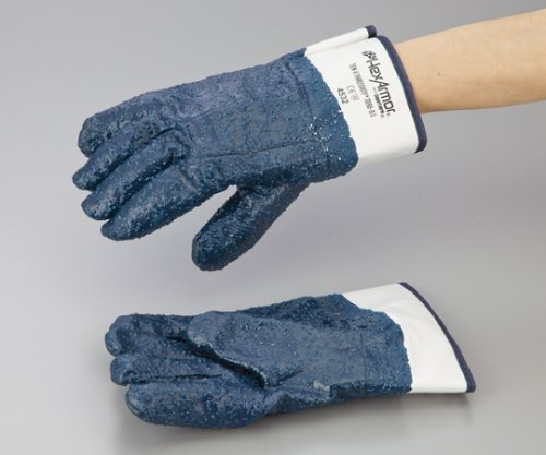 1-2591-02安全手袋7090(耐切創耐油耐薬品) B07BDMR3ZP