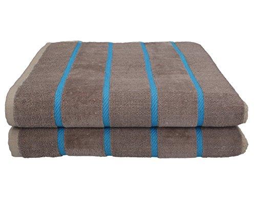 Betz 2 Stück Duschtücher Badetücher Sporthandtuch Handtücher Set ICELAND 100% Baumwolle Duschhandtücher Größe 70x140 cm Farbe beige