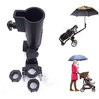 Muttiy Universele Paraplu Houder, 15mm 25mm 30mm Optionele Handvat Connector Maten voor Golfwagen, Fiets, Baby…