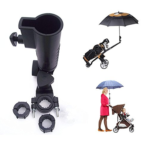 (QIYAT Universal Umbrella Holder, 15mm 25mm 30mm Optional Handle Connector Sizes for Golf Cart, Bike, Baby Stroller,Fishing Beach Chair, Wheelchair with Round Frames Size: 15mm - 58mm)