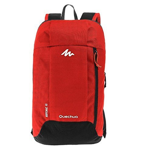 Quechua Kids Adults X-Sports Decathlon 10L Outdoor Day Backpack Small - Red & Grey