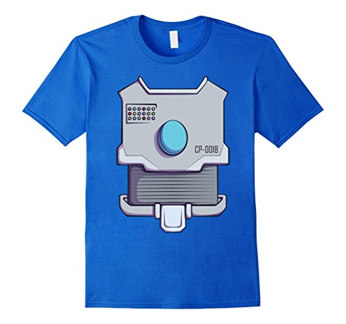 Mens Robot Costume T-Shirt for Halloween Robot Cyborg Cosplay Tee Small Royal Blue (Cyborg Costume Ideas)