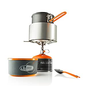 GSI Outdoors - Pinnacle Soloist Complete, Nesting Cook Set, Superior Backcountry Cookware Since 1985
