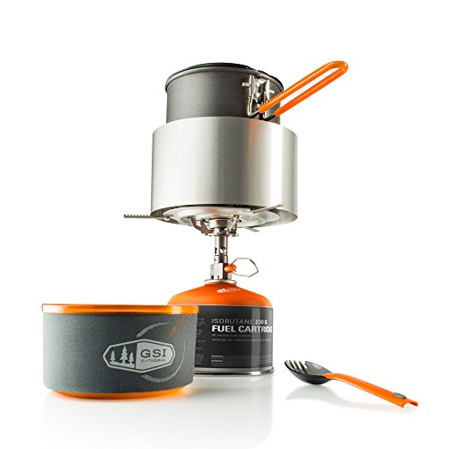 GSI Outdoors Pinnacle Soloist Complete, Nesting Cook Set, Superior Backcountry Cookware Since 1985 by GSI Outdoors