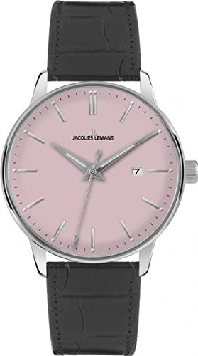 Jacques Lemans Classic N-213F 42mm Stainless Steel Case Calfskin Acrylic Men's Watch
