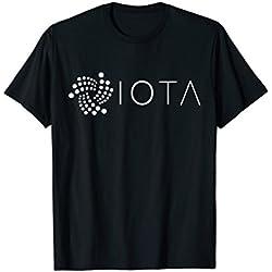 Mens IOTA Logo T-Shirt | MIOTA Token Crypto Tee Large Black