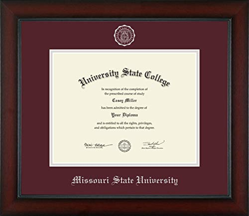 (Missouri State University - Officially Licensed - Silver Embossed Diploma Frame - Diploma Size 11