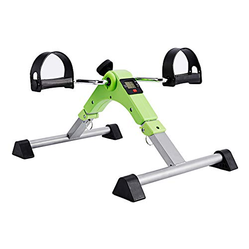 SYNTEAM Foldable Pedal Exerciser with LCD monitor bike exercise machine for Seniors-Fully Assembled, No Tools Required(Green) by Synteam (Image #1)