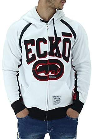 Ecko Mens White Cotton Cremallera Chopper Sudadera con Capucha: Amazon.es: Ropa y accesorios