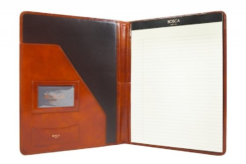 Bosca Letter Writing Pad Portfolio Old Leather Collection Amber